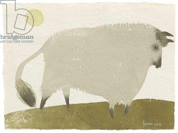 Animal, 1994 (gouache on paper)