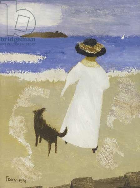 Woman On Beach, 1974 (oil on canvas)