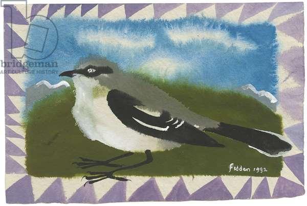 Jay, 1992 (gouache on paper)