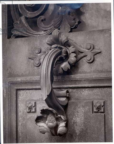 Bronze Door Handle, from a Tomb, late 19th century (b/w print)