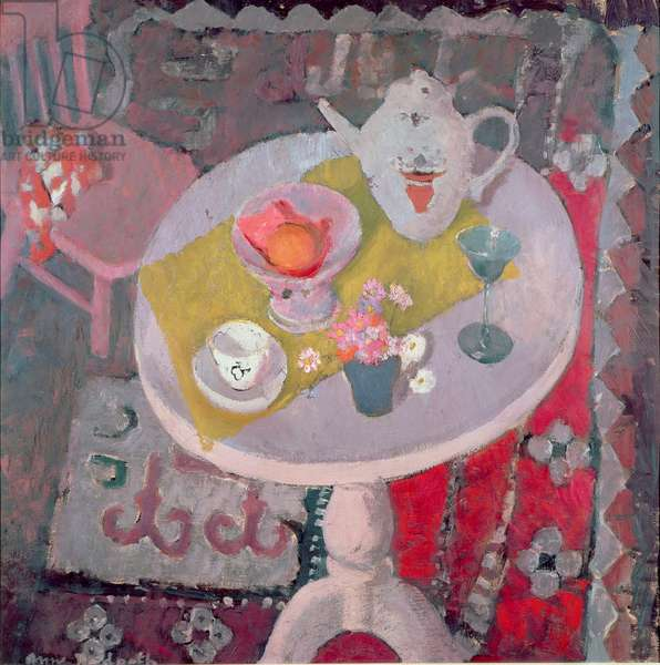 Round Table with Chinese teapot, 1945