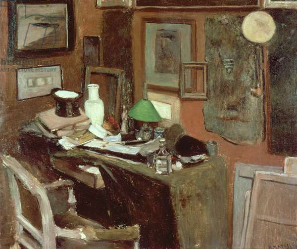 Interior with a top hat, 1896 (oil on canvas)
