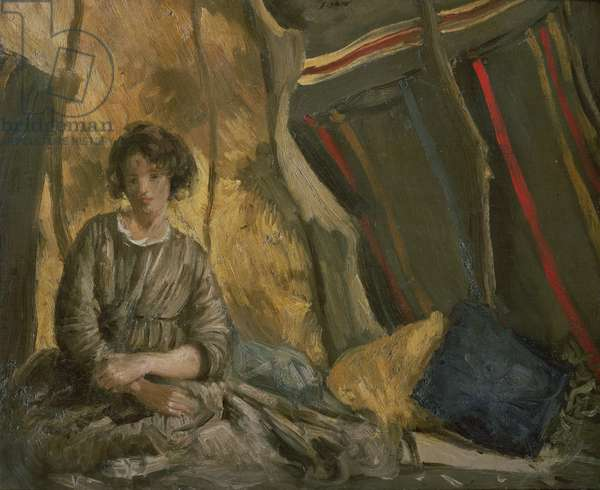 Ida in the Tent (oil on canvas)