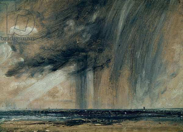 Rainstorm over the Sea, c.1824-28 (oil on paper laid on canvas)