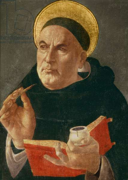 St.Thomas Aquinas (oil on panel)