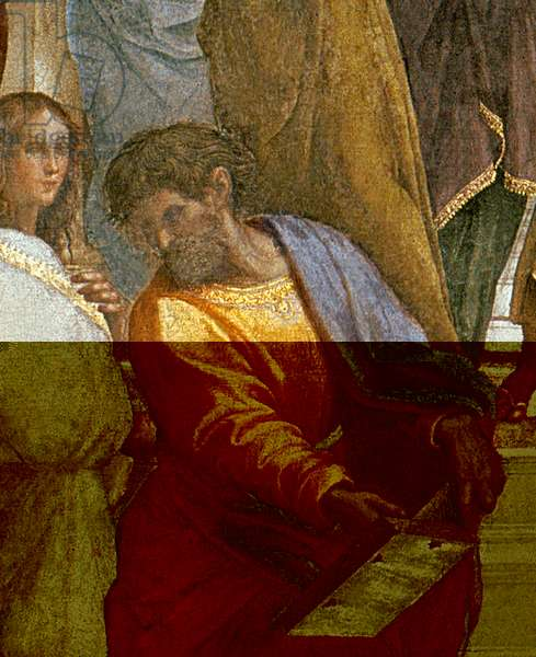 The School of Athens, detail of a figure from the left hand side, 1510-11 (fresco) (detail of 87597)