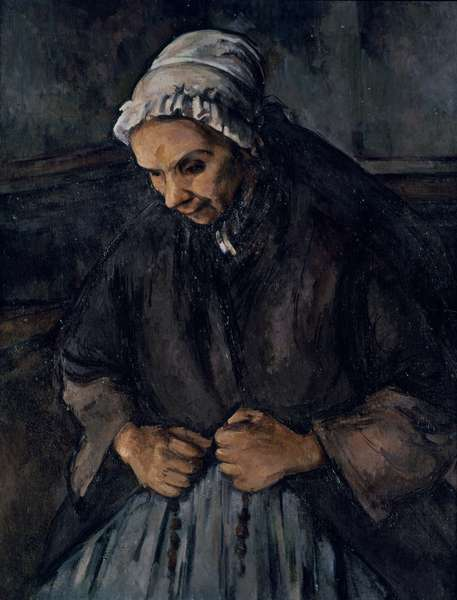 Old Woman with a Rosary, c.1896 (oil on canvas)