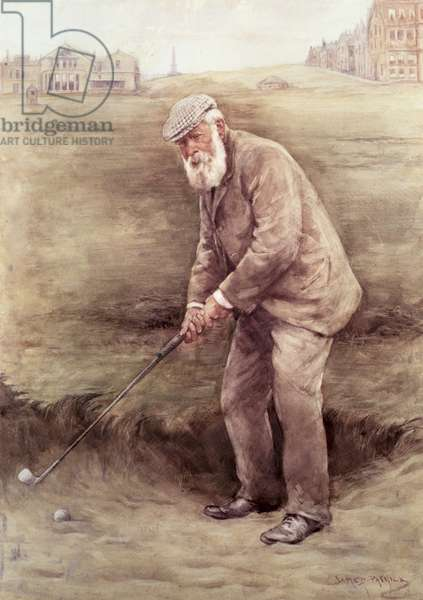 Portrait of the Golfer, Old Tom Morris, 1951 (oil on canvas)