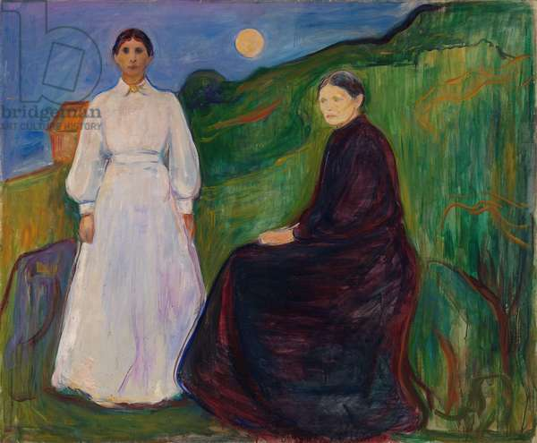 Mother and Daughter, 1897 (oil on canvas)