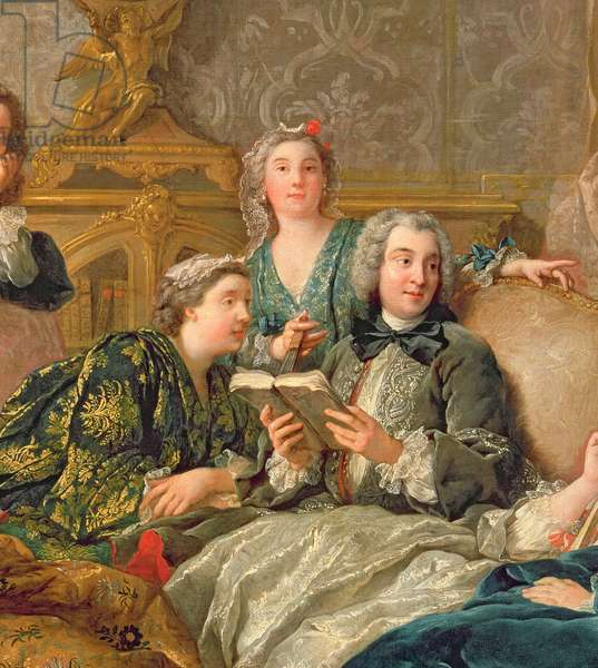 The Reading from Moliere, c.1728 (detail of 29516)