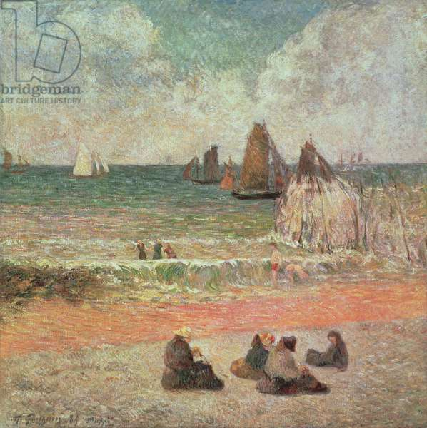 Bathing, Dieppe, 1885 (oil on canvas)