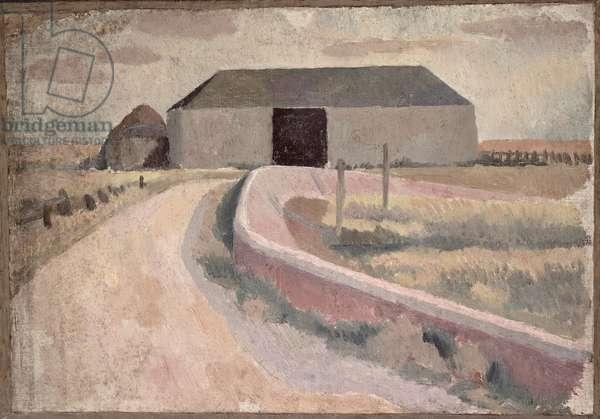 The Barn (oil on canvas)