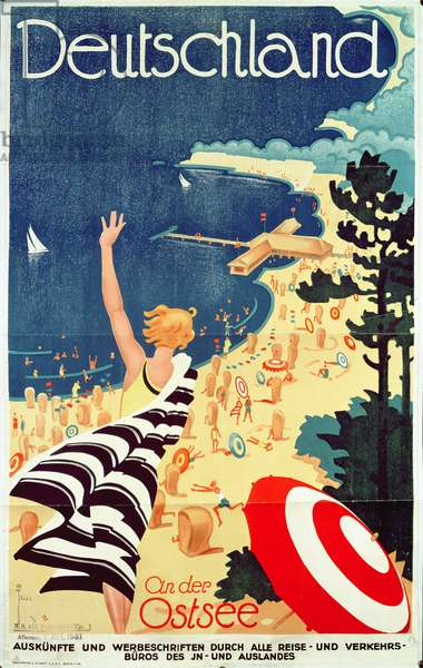 Deutschland: an der Ostsee, c.1930 (colour lithograph