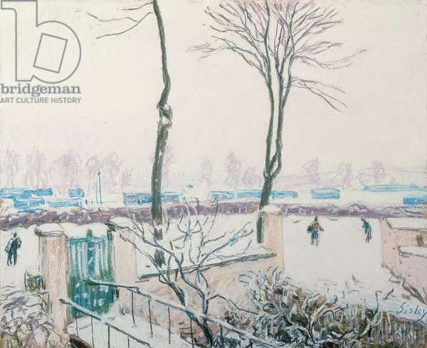 Approach to the Railway Station, Moret, 1888 (pastel on paper)