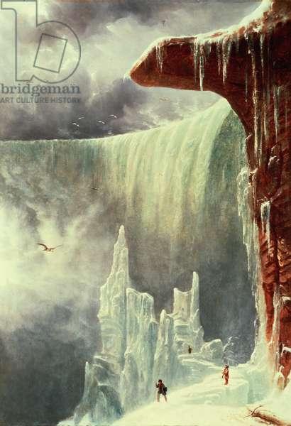 Niagara Falls in Winter (oil on canvas)