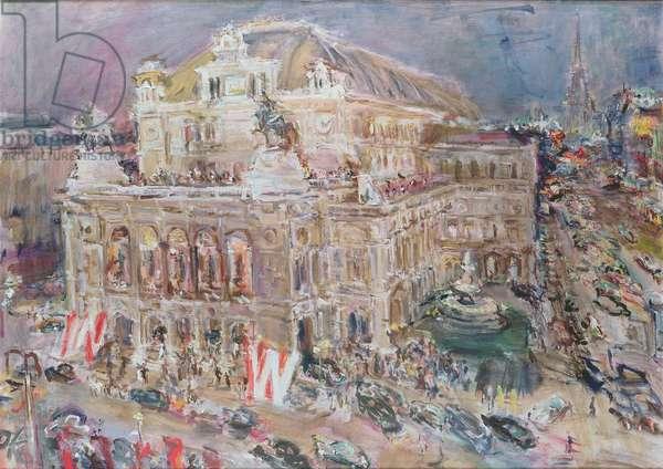 The Vienna State Opera, 1956 (oil on canvas)