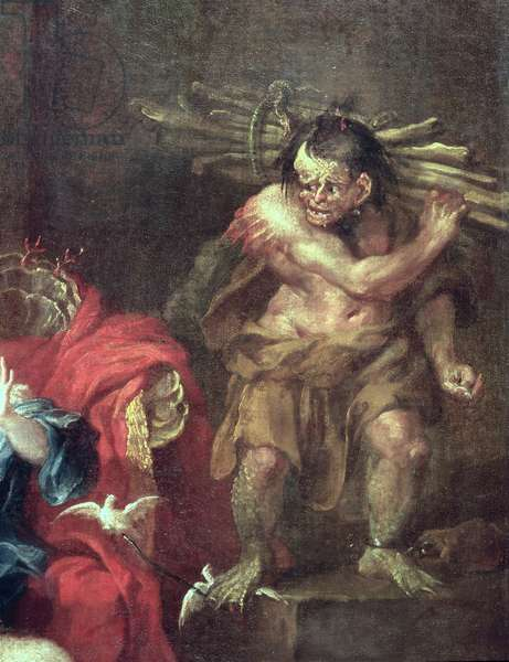 The Tempest, detail of Caliban (oil on canvas) (detail of 353593)
