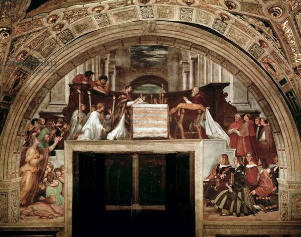 The Mass of Bolsena, from the Stanza dell'Eliodor, 1511-14 (fresco)