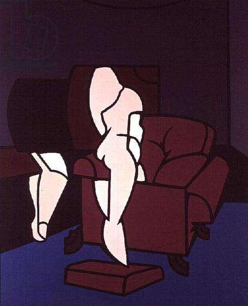 Interno con figura e Poltrona, 1968