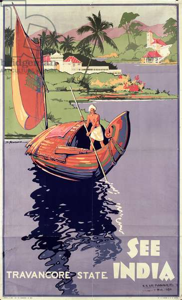 'See India', 1938 (colour litho)