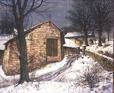Wellshead Farm, Exmoor in the Snow, c.1937