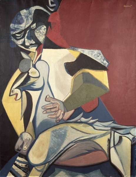 Figure with Goat, 1948