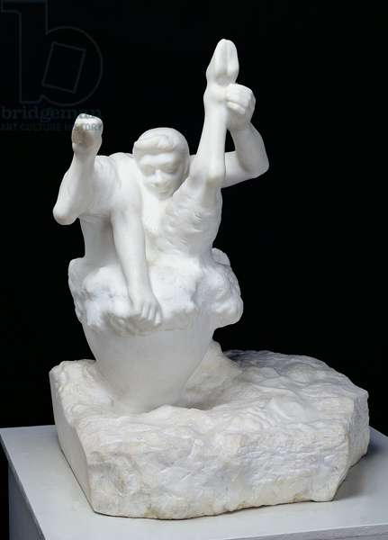 Bacchus with a Vat, 1904 (marble)