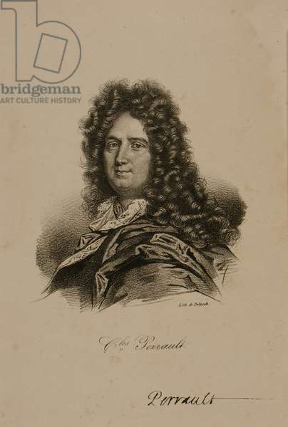 Portrait of Charles Perrault (1628-1703) (litho)
