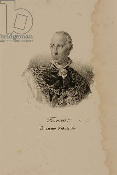 Franz I (1768-1835) First Emperor of Austria (1804-35) (lithograph)