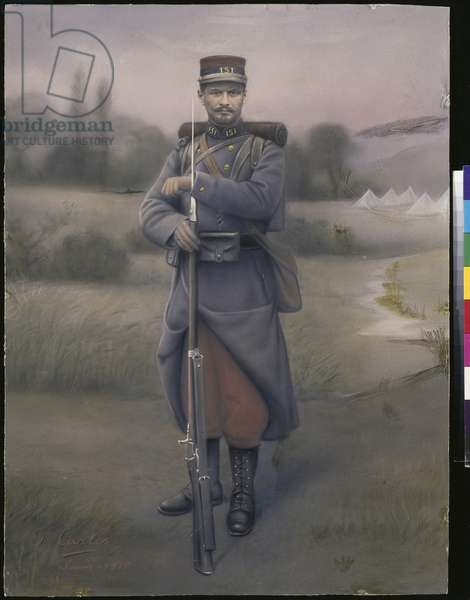 Infantryman of the 151st Infantry Regiment, 1915 (coloured photo)