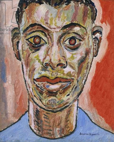 Portrait of James Baldwin, 1945 (oil on canvas)