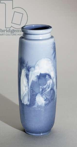 Vase, 1894 (stoneware (aerial blue glaze line))