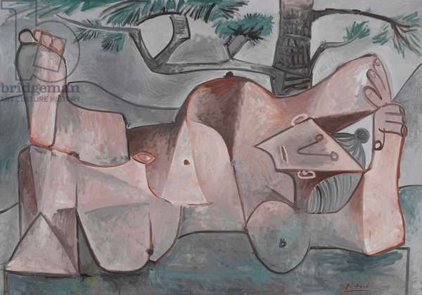 Nude under a Pine Tree, 1959 (oil on canvas)