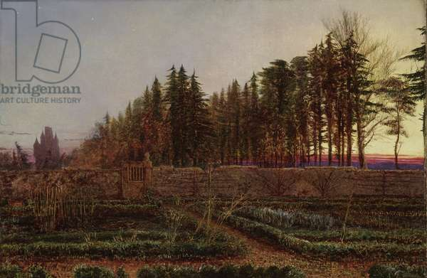 The Gloaming (Manse Garden, Berwickshire), 1863 (oil on canvas)