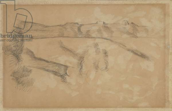 Landscape, c.1890 (graphite on beige wove paper)