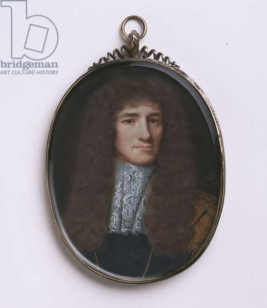Portrait of Anthony Ashley Cooper, 2nd Earl of Shaftesbury, 1670 (w/c on vellum)