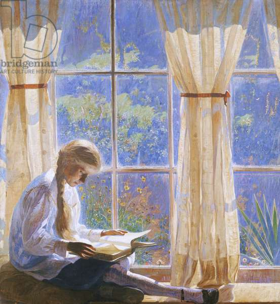 The Orchard Window, 1918 (oil on canvas)        88:The artist's daughter Tanis;