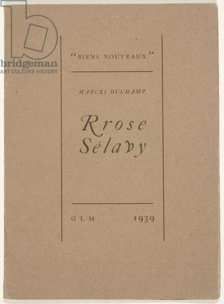 Frontispiece to 'Biens Noueveaux', Rrose Selavy, 1939 (litho)