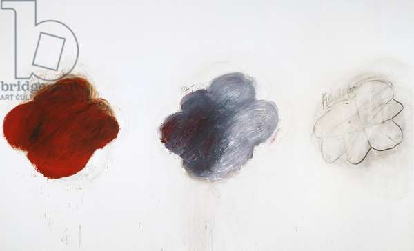 Fifty Days at Iliam: Shades of Achilles, Patroclus, and Hector, 1978 (oil, oil crayon & graphite on canvas)