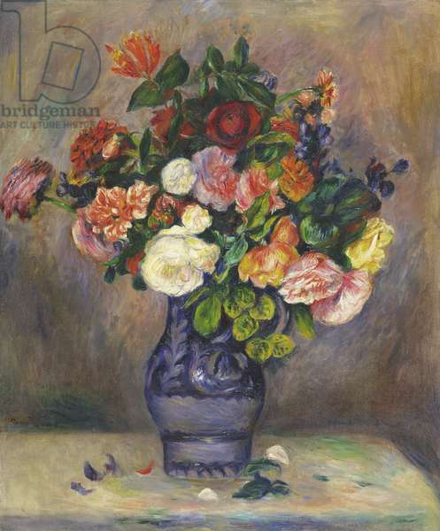 Flowers in a Vase, c.1880 (oil on canvas)