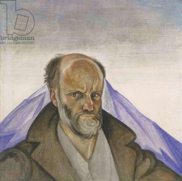 Self-Portrait with Popocatépetl, 1928 (Atl colour: oil, wax, dry resin & gasoline)