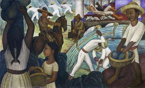 Sugar Cane, 1931 (fresco)