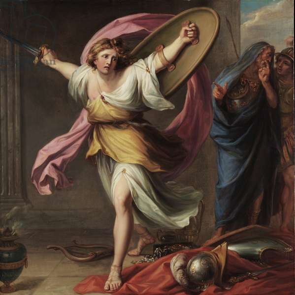 Achilles Discovered by Ulysses among the Daughters of Lycomedes, c.1776 (oil on canvas)
