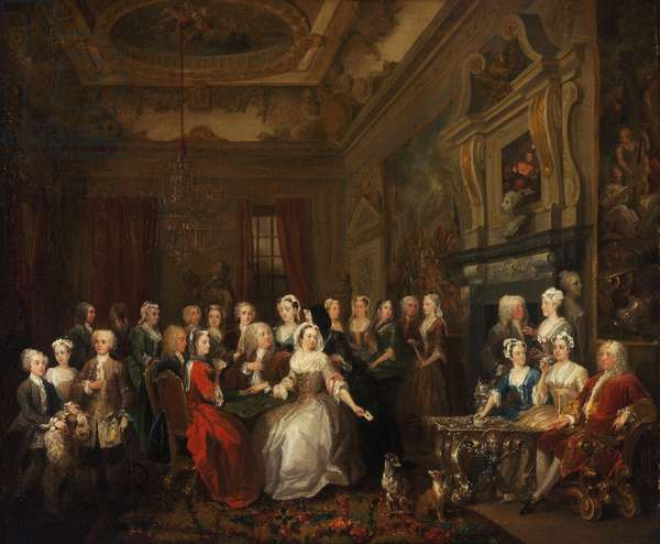 Assembly at Wanstead House, 1728-31 (oil on canvas)