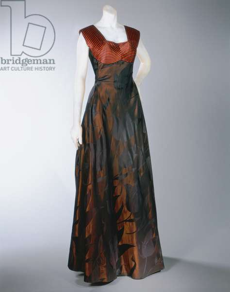 Evening Dress, Spring 1948 (silk satin & rayon damask)