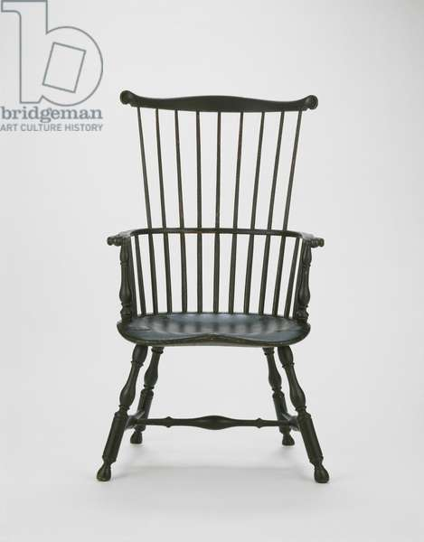 Windsor Side Chair, 1770-85 (yellow poplar, maple & oak)