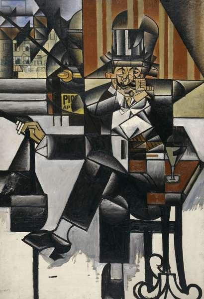 Man in a Café, 1912 (oil on canvas)