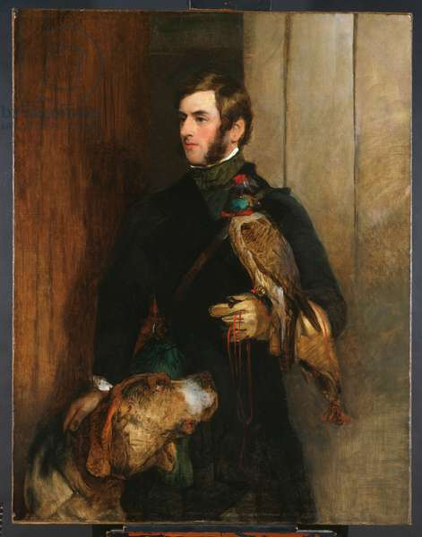 The Falconer (possibly a portrait of William Russell), 1830s (oil on canvas)