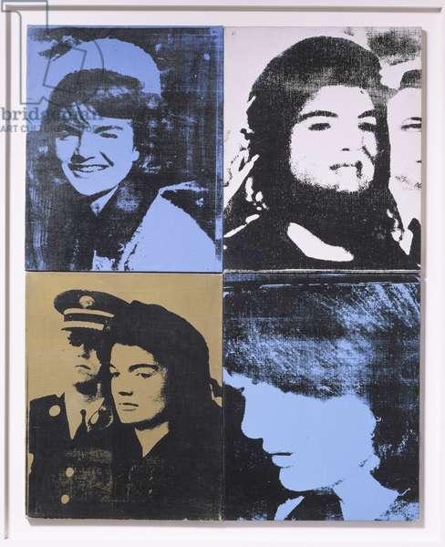 Jackie - Four Jackies, 1964 (screenprinted acrylic on four canvas panels)