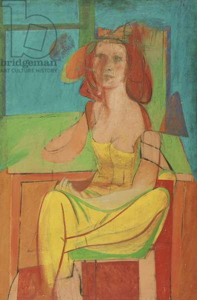 Seated Woman, c.1940 (oil & charcoal on masonite)